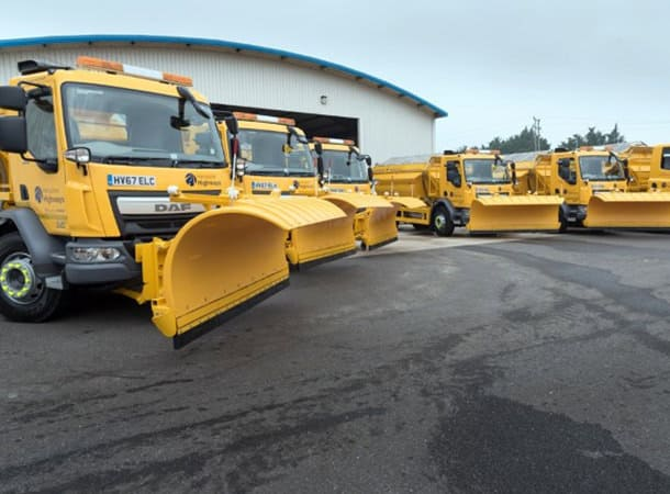 Hampshire snow plough and gritters